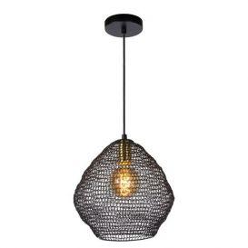 Hanglamp Saar zwart metaal 28cm