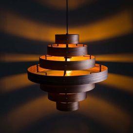 Hanglamp Walnut 7 ringen