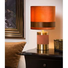 Tafellamp Frizzle bruin