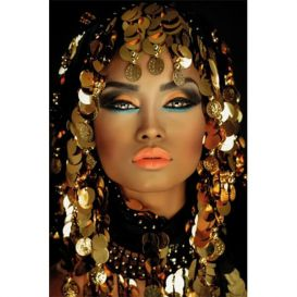 Mondiart schilderij Arabian princess AluArt 80x120 cm Glans