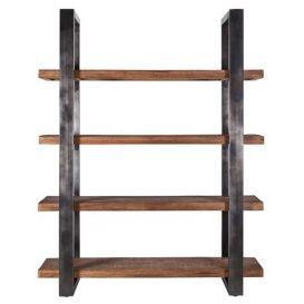 Boekenkast Mango met metalen frame zwart 160cm