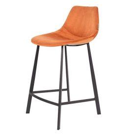 Counterstoel Franky velvet oranje
