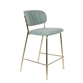 Counter stoel Jolien goud/lichtgroen