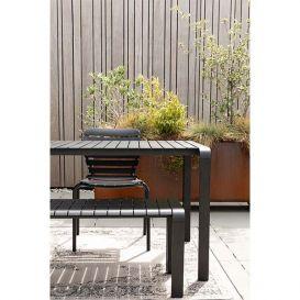 Tuinbank Vondel zwart 129,5x45cm