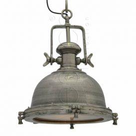 Hanglamp bol 45cm rough nickel