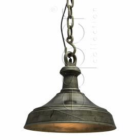 Hanglamp 42cm rough nickel Dun