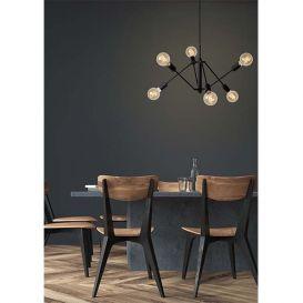 Hanglamp Lester zwart 6-lichts