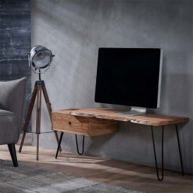 Tv-meubel Live Edge massief hout 120cm