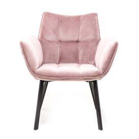 Fauteuil MRS roze velvet