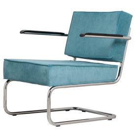 Armstoel Lounge Chair Ridge Rib blauw