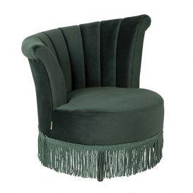 Lounge chair Flair velvet donkergroen