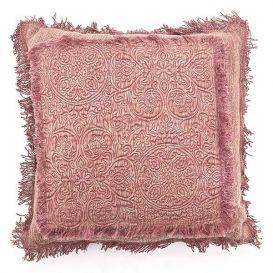 Kussen Floret roze 45x45cm