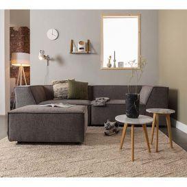 Bank Sofa King 3,5-zits donker grijs