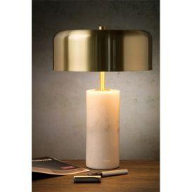Tafellamp Mirasol wit marmer 25cm