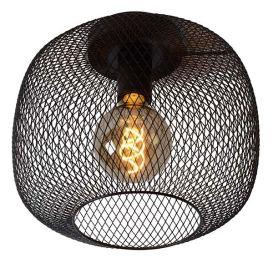 Plafondlamp Mesh zwart 30cm