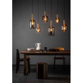 Hanglamp Joanet smoke glas 6 lampen