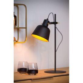 Tafellamp Pia zwart/goud metaal