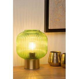 Tafellamp Maloto groen rond 20cm