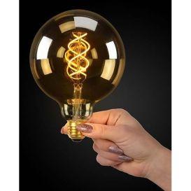 LED Globe filament lamp amber E27 5W ø12,5 cm