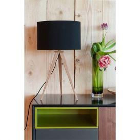 Tafellamp Tripod hout/zwart