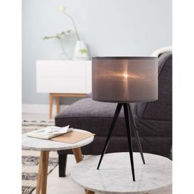Tafellamp Tripod zwart/grijs