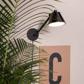 Wandlamp Lub zwart