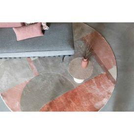 Vloerkleed Hilton grijs/roze 240cm