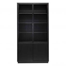 Buffetkast Oakura zwart 2x2 deuren