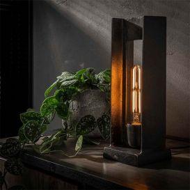 Tafellamp H-profiel zwart nikkel