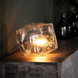 Tafellamp rock clear transparant glas