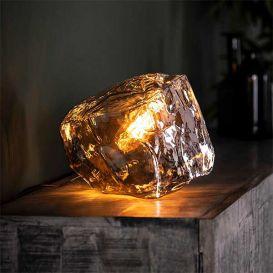 Tafellamp rock chromed glas