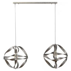 Hanglamp Spirale oud silver
