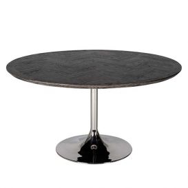 Eettafel Blackbone rond silver 140cm