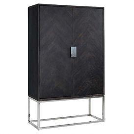 Wandkast Blackbone silver laag 2-deurs