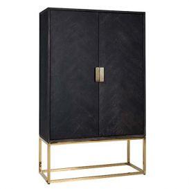 Wandkast Blackbone goud laag 2-deurs