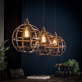 Hanglamp Globe 3x 33cm antiek koper finish