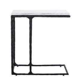 Sofa tafel Steel Smith zwart met marmer