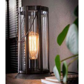 Tafellamp Lantaarn rond oud zilver