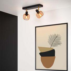 Plafondspot Maren goud 2 lampen
