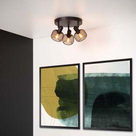Plafondspot Maren zwart 3 lampen