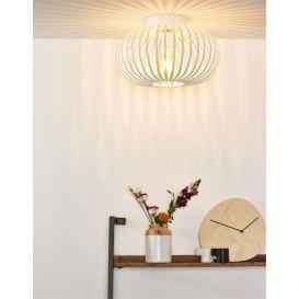 Plafondlamp Manuela wit metaal 40 cm