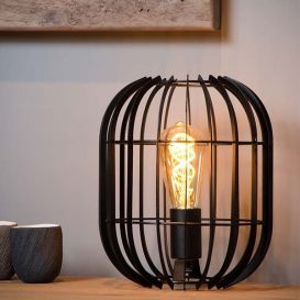 Tafellamp Reda zwart 26 cm