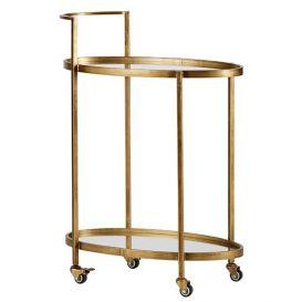 Trolley Push Metaal antique brass