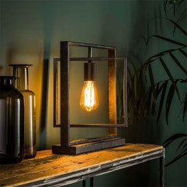 Tafellamp Turn square 1 lamp charcoal