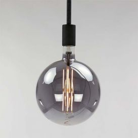 Lichtbron LED filament bol rond 20cm smoke grey glas