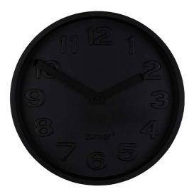 Klok Concrete Time zwart