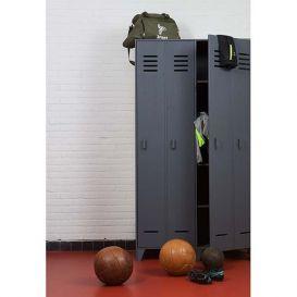 Lockerkast Stijn 2-deurs staalgrijs