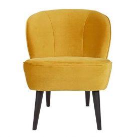 Woood fauteuil Sara fluweel oker