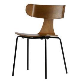 Houten stoel Form metalen poot bruin