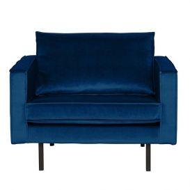 Fauteuil Rodeo dark blue nightshade velvet BePureHome